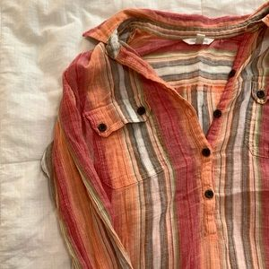 Maurices 7/8 Sleeve Button Blouse